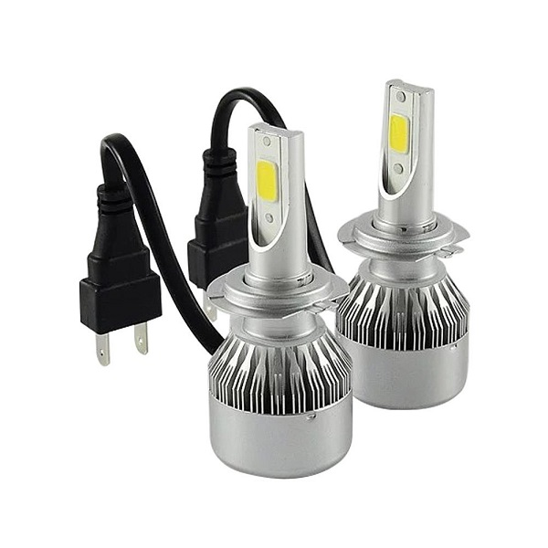2 lampadine h7 110w led kit 9200lm 6000k bianco 55w hi low for Lampadine h7 led