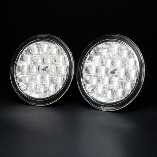 Daylight luci diurne bianchi con 18 led 6000k universali for Luci diurne a led