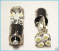 COPPIA LAMPADINE LUCI POSIZIONE 8 LED BIANCHI BAX9S H6W CANBUS