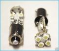 COPPIA LAMPADINE LUCI POSIZIONE 8 LED BIANCHI BA9S H6 CANBUS
