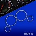 ANELLI CROMATI PER TACHIMETRO BMW SERIE 5 E39 dal 1995>2004