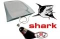 ANTENNA SPORTIVA MOD. SQUALO SHARK CROMATA