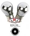 COPPIA LAMPADINE STOP CROMATE ROSSO 21W BA15S P21W
