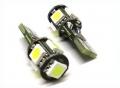 COPPIA LAMPADINE PER LUCI POSIZIONE 5 LED BIANCHI T10 W5W CANBUS