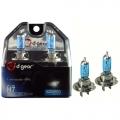 COPPIA LAMPADINE EFFETTO XENON H7 +70% 4500K HYPER BLUE