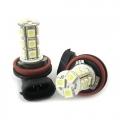 COPPIA LAMPADINE H11 LUCE FENDINEBBIA BIANCO 18 LED SMD