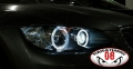 COPPIA LED ANGEL EYES BIANCHI BMW SERIE 3 E90 E91 2005>