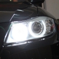 COPPIA LED ANGEL EYES 20W BIANCHI BMW SERIE 6 E63 E64 M6 2007 >>