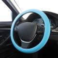 COPRIVOLANTE UNIVERSALE AUTO BLU IN SILICONE 32>38cm
