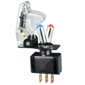 INTERRUTTORE AERONAUTICO KILL SWITCH CAPPA TRASPARENTE + LED BLU