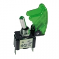 INTERRUTTORE AERONAUTICO KILL SWITCH CAPPA VERDE + LED VERDE