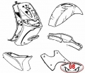 KIT CARENE COMPLETE ORIGINALI PIAGGIO ZIP SP 1994-1999