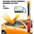 PELLICOLA OSCURANTE VETRI STATICA ROLL NERO 300x75cm