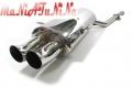 SCARICO IN ACCIAIO INOX 2X76mm BMW E36 SERIE 3 90-98