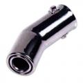TERMINALE SCARICO CROMATO IN ACCIAIO INOX 40>60mm