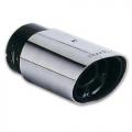 TERMINALE SCARICO CROMATO IN ACCIAIO LUCIDATO INOX OVALE 37>70mm