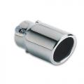 TERMINALE SCARICO CROMATO IN ACCIAIO INOX 30>57mm MONZA