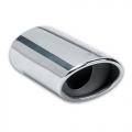 TERMINALE SCARICO CROMATO IN ACCIAIO INOX 45>60mm OVALE